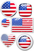 Set of stickers and buttons - USA — Foto Stock