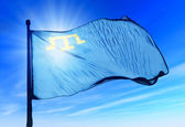 Flag of the Crimean Tatar people — Stock Photo