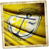 Flag of Anchorage (USA) — ストック写真