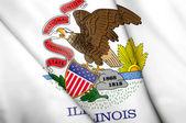 Flag of Illinois (USA)  — Stock Photo