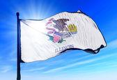 Bandiera dell'Illinois (usa), agitando il vento — Foto Stock