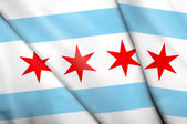 Flag of Chicago (USA)  — Stock Photo