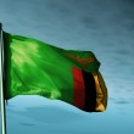 Постер, плакат: Zambia flag waving on the wind