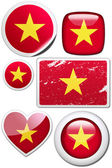 Glossy and colorful stickers with reflection set — Stock Photo