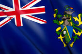 Flag of Pitcairn Islands (UK)  — Stock Photo