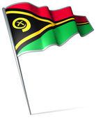 Flag of Vanuatu  — Stok fotoğraf