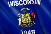 Flag of Wisconsin (USA)  — Stock Photo
