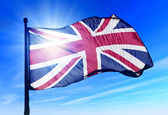 The British flag waving on the wind — Stock Photo