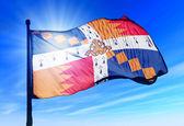 Birmingham, England, flag waving on the wind — Stock Photo