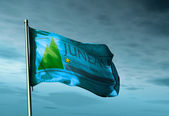 Juneau, Alaska (USA), flag waving on the wind — Stock Photo
