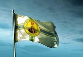 Little Rock, Arkansas (USA), flag waving on the wind — Stock Photo