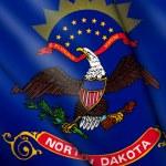 Flag of North Dakota (USA) — Stock Photo #45147795