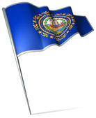 Flag of New Hampshire (USA) — Stock Photo