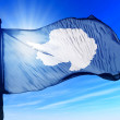 Antarctica flag waving on the wind — Stock Photo #47093053