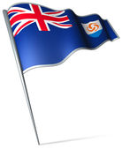 Flag of Anguilla — Stock Photo