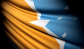 Flag of Tierra del Fuego Province (ARGENTINA)  — Stock Photo