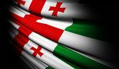 アブハジアの旗風に手を振る — ストック写真