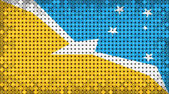 Flag of Tierra del Fuego Province (ARGENTINA) on Led Display — Stock Photo