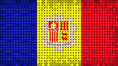 Flag of Andorra lighting on LED display — Stock Photo