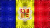 Flagge andorra beleuchtung auf led-anzeige — Stockfoto