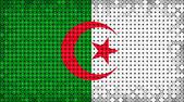 Flag of Algeria lighting on LED display — Stock Photo