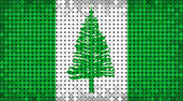 Flag of Norfolk Island lighting on LED display  — Stockfoto
