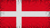 Flag of Denmark lighting on LED display — Stock Photo