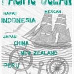 Pacific ocean — Stock Vector