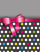 Polka dot pink ribbon on the ground — 图库矢量图片
