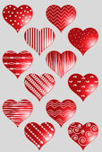 Garnki serca — Wektor stockowy