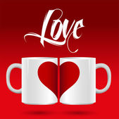 Happy valentine's day. Love — Stock Vector