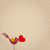 Cute cartoon birds on vector — Vetorial Stock