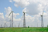 Wind turbines farm in Ukraine — Stock Photo