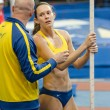 DONETSK,UKRAINE - FEB. 09: Fabiana Murer - with coach on Samsung Pole Vault Stars meeting — Stock Photo #32190983