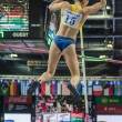 DONETSK, UKRAINE - FEB. 09: Fabiana Murer. The World champion jump bar on Samsung Pole Vault Stars meeting — Stock Photo
