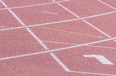 The markup on the racetracks track and field stadium. — Stok fotoğraf