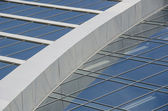 Detail of the facade of a modern office building of glass and me — Foto de Stock