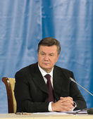 Donezk, Ukraine - Okt 18: der Präsident der Ukraine Viktor Yanuk — Stockfoto