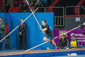 DONETSK, UKRAINE - FEB. 15: Renaud Lavillenie - The Olympic cham — Stock Photo