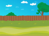 Vector cartoon landscape — Stock Vector