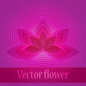 Pink Lotus Flower on Abstract Background. — Stock Vector