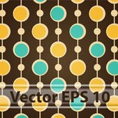 Vector Seamless Brown Retro Pattern. — Stock Vector