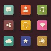 Vector Application Web Icons Set — Stock Vector