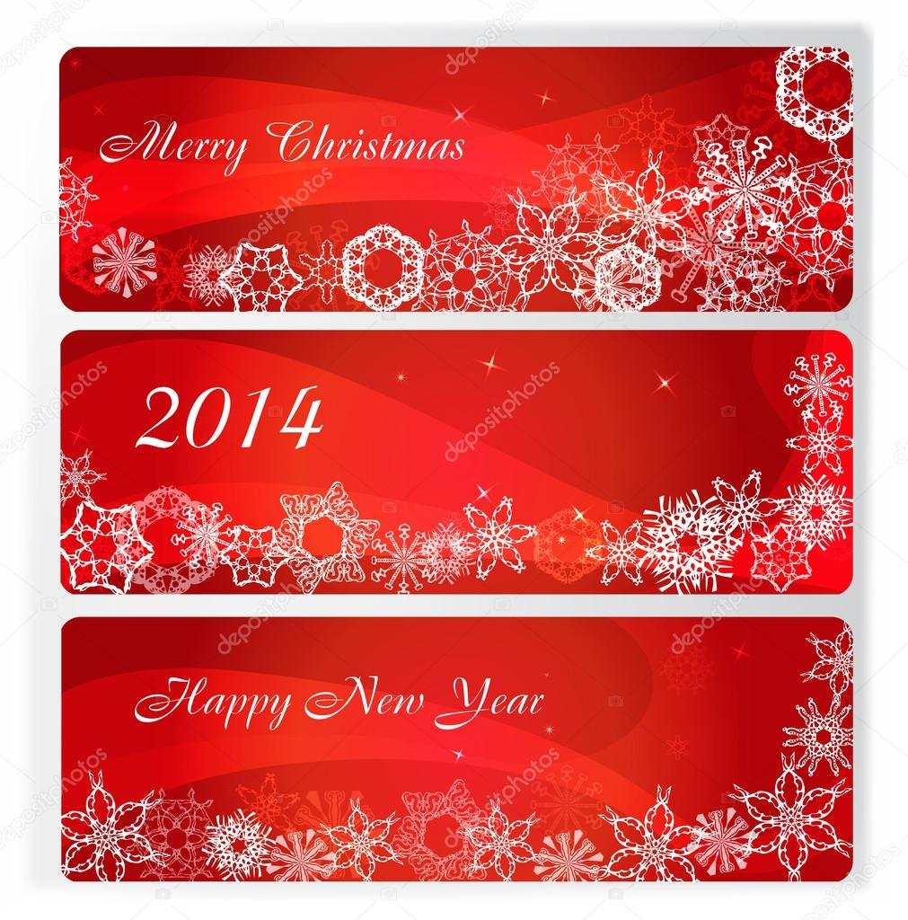 Vector set of three banner for merry christmas stock vector