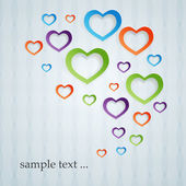 Abstract colored hearts signs — Stock Vector