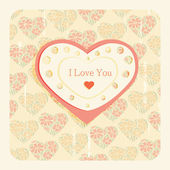 Vintage Valentine's day card — Stock Vector