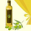 Illustration of olive oil — Stock Photo