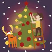 Ilustrace vánoc — Stock fotografie