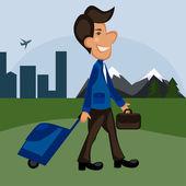 Illustration of business travel — Stock Photo