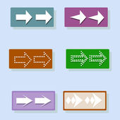 Arrow icon set. Vector — Stock Photo